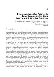 12 Dynamic Analysis of an Automobile Lower Suspension Arm ...
