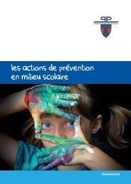 les actions de prevention en milieu scolaire