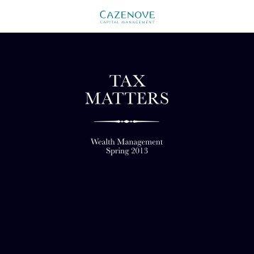 Federal Tax Matters