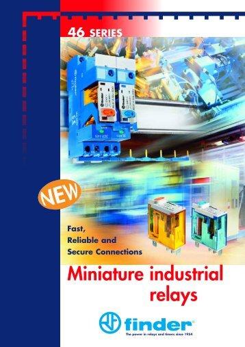 Miniature industrial relays