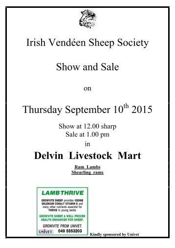 Thursday September 10 2015 Delvin Livestock Mart