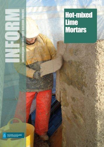 Hot-mixed Lime Mortars