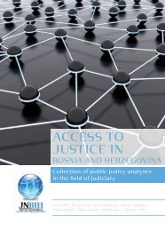 ABOUT THE JUSTICE NETWORK IN BOSNIA AND HERZEGOVINA