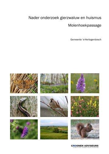 Bijlage 1 Nader onderzoek gierzwaluw en huismus - s-Hertogenbosch