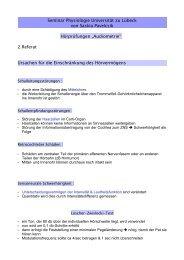 Seminar Physiologie Universität zu Lübeck von Saskia Pavelcsik ...