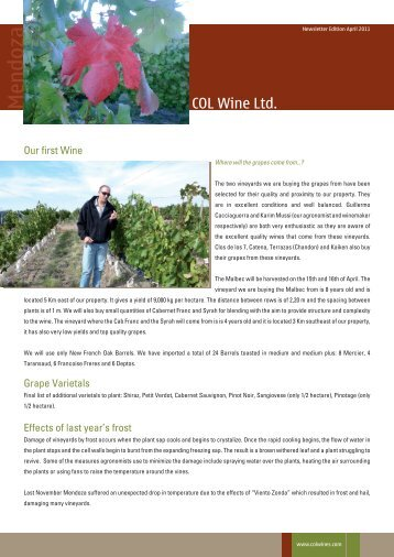 Newsletter Edition April 2011 - Colwines.com