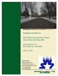 FEASIBILITY REPORT for 2013 Street Improvements ... - West St. Paul