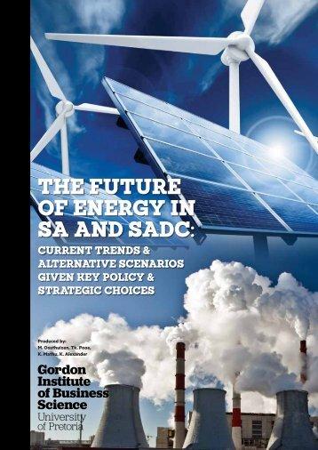 OF ENERGY IN SA AND SADC