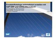 Ersatzteilkataloge automatisiert erstellen mit SAP ERP und - tekom