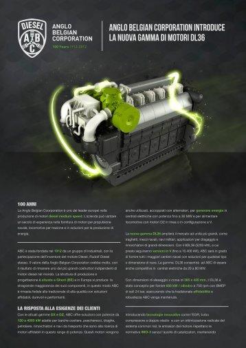 Anglo Belgian Corporation introduce La nuova gamma di motori DL36