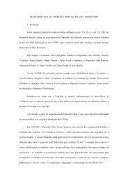 Relatório Final de Comissão - Assembléia de Minas Gerais