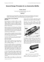 General Design Principles for an Automotive Muffler