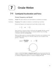 7-1 Centripetal Acceleration and Force