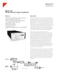 Model 133 PE and Isotron® signal conditioner - Endevco