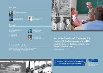 Verein der Freunde und Ehemaligen des Instituts für - TFD