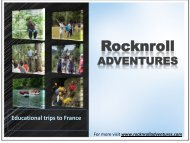 Education Travel Tour To France With RocknRoll Adventures