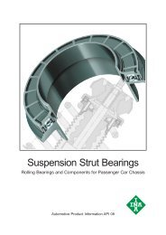 Suspension Strut Bearings: Rolling Bearings and Components for ...