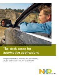 The sixth sense for automotive applications - NXP Semiconductors