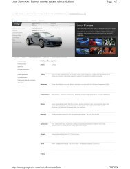 Lotus Europa 2009 Specifications - Car Central