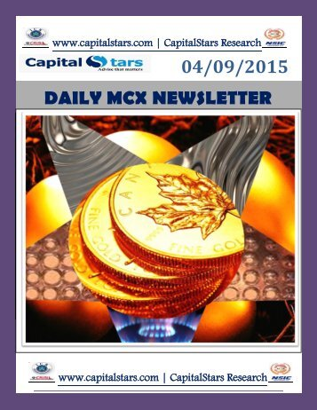 04/09/2015 DAILY MCX NEWSLETTER