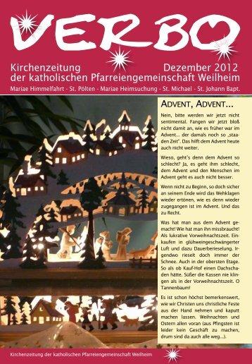 verbo-12-12 - Katholische Pfarreiengemeinschaft Weilheim
