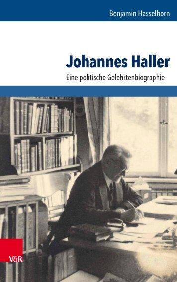 Benjamin Hasselhorn Johannes Haller