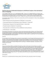 Gentium Announces Defibrotide Symposium at XXII ... - Gentium SpA