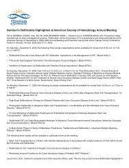 Gentium's Defibrotide Highlighted at American ... - Gentium SpA