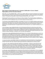 Data Supports Potential Mechanism for Gentium's ... - Gentium SpA