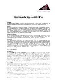 Kommunikationsassistent/in - Zertifizierte Weiterbildung ...