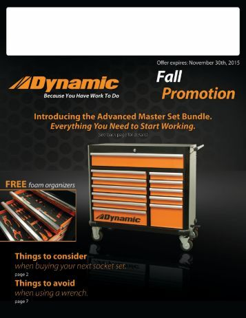 Dynamic Tools Fall Promotion 2015