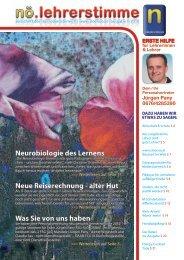 Neurobiologie des Lernens Neue Reiserechnung - alter Hut Was ...