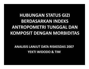 Berdasarkan indeks antropometri komposit