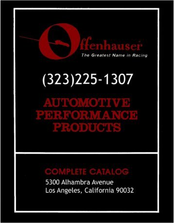 to view catalog - OffenHauser Sales