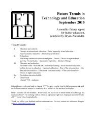 Future Trends in Technology and Education September 2015