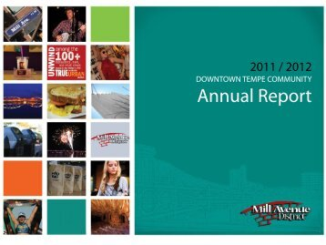 Annual Report - the Mill Avenue District