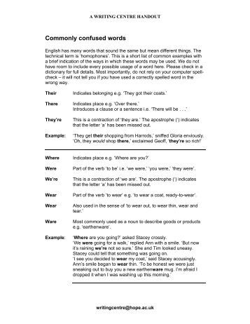 Commonly Confused Words Worksheet - Education Worksheets