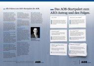 Das AOB-Startpaket zum AEO-Antrag und den Folgen. - AOB GmbH