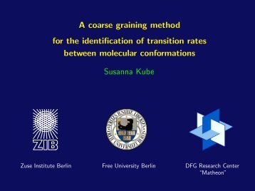 A coarse graining method for the identification of transition rates - ZIB