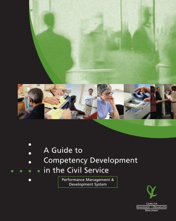 A Guide to Competency Development in the Civil Service