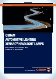 OSRAM AUTOMOTiVE liGhTiNG XENARC® hEAdliGhT lAMpS