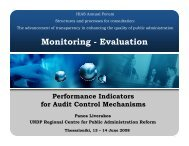 Monitoring - Evaluation