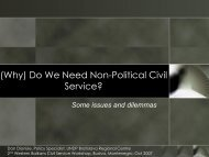 (Why) Do We Need Non-Political Civil Service?
