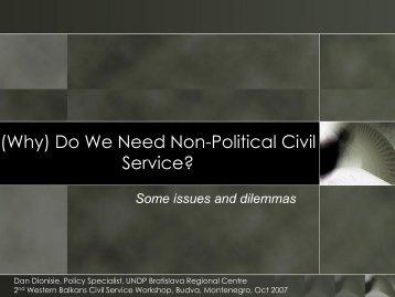 (Why) Do We Need Non-Political Civil Service?
