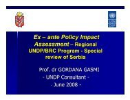 Ex – ante Policy Impact Assessment