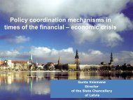 Policy coordination mechanisms in times of the financial – economic crisis