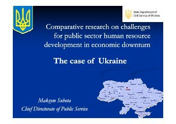 The case of Ukraine
