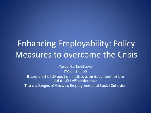 Measures to overcome the Crisis