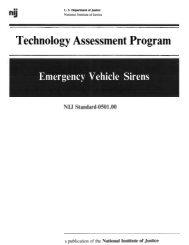 nij standard for emergency vehicle sirens - National Criminal Justice ...