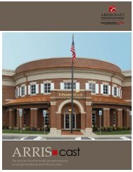 ARRIS•cast Brochure - Arriscraft International